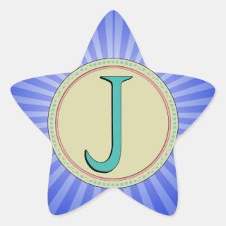 J MONOGRAM LETTER STICKERS