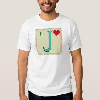 J MONOGRAM LETTER T-SHIRT