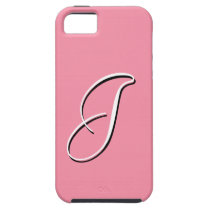 J Monogram Pink Sherbet iPhone 5 Case