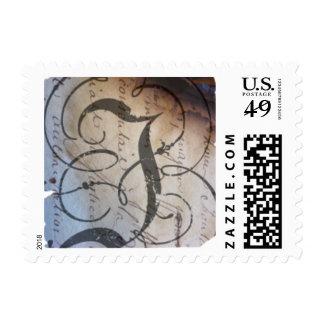J monogram postage