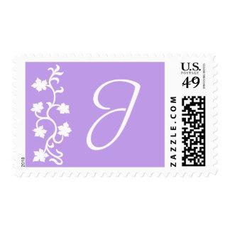 J Monogram (Purple Vine) Postage