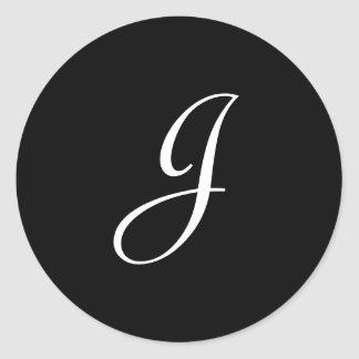 J Monogram Stickers