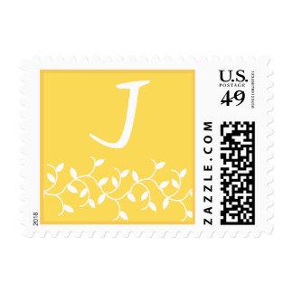 J Monogram (Yellow Ivy Leaves) Postage