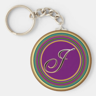 J monogramme mascarade From Party Time Creatives Keychain