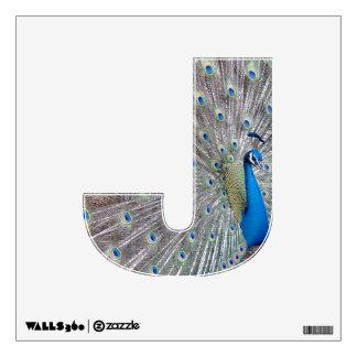 J of Jesus Peacock Wall Decal