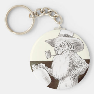 J P Bernard Moonshiner (Sepia) Basic Round Button Keychain