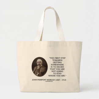 J.P. Morgan First Step Towards Getting Somewhere Canvas Bags