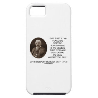 J.P. Morgan First Step Towards Getting Somewhere iPhone SE/5/5s Case