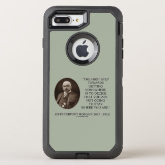 J.P. Morgan First Step Towards Getting Somewhere OtterBox Defender iPhone 7 Plus Case