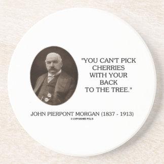 J.P. Morgan usted no puede escoger cerezas de Posavasos Cerveza
