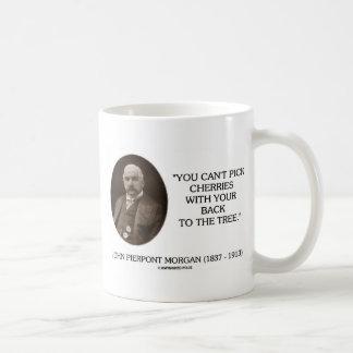 J.P. Morgan You Can't Pick Cherries Back To Tree Mug