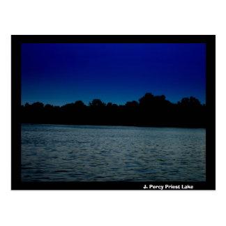 J. Percy Priest Lake at Night Postcard