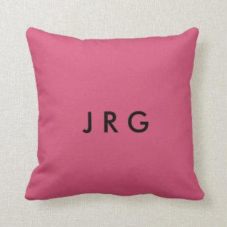 J R G THROW PILLOW