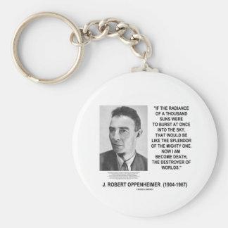 J Robert Oppenheimer ahora soy cita convertida de Llaveros Personalizados