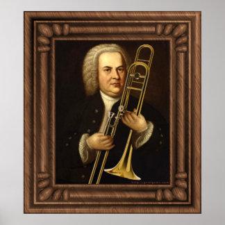 J.S. Bach con el Trombone Poster