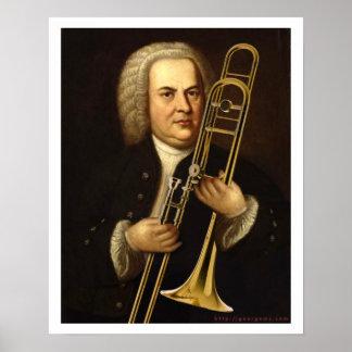 J.S. Bach con el Trombone Póster