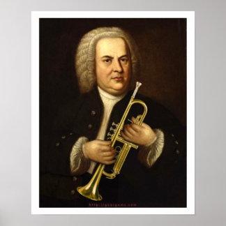 J.S. Bach con la trompeta Póster
