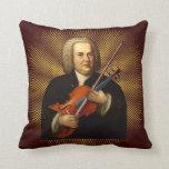 J.S. Bach con una viola Cojines