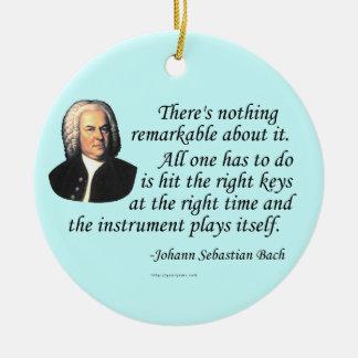 J.S. Bach en jugar Adorno Navideño Redondo De Cerámica
