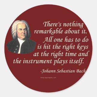 J.S. Bach en jugar Pegatina