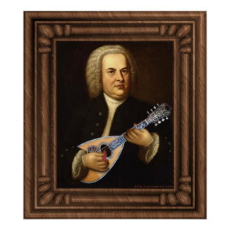 J.S. Bach en la mandolina Poster