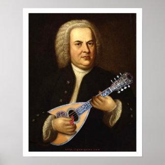 J.S. Bach on Mandolin Poster