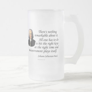 J.S. Bach on Playing 16 Oz Frosted Glass Beer Mug