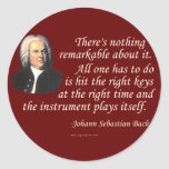 J.S. Bach on Playing Stickers