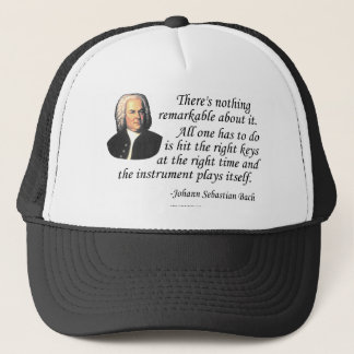 J.S. Bach on Playing Trucker Hat