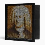 J.S. Bach Text Portrait Vinyl Binder