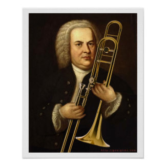J.S. Bach with Trombone Poster