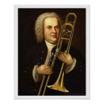 J.S. Bach with Trombone Print