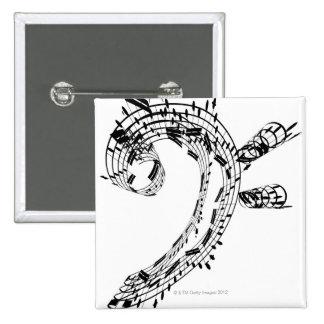 J.S.Bach's Cello Suite 2 Inch Square Button
