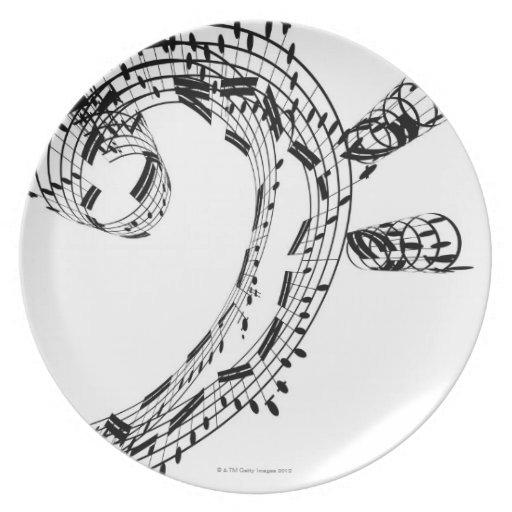 J.S.Bach's Cello Suite Party Plates