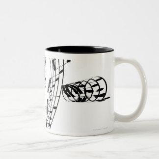 J.S.Bach's Cello Suite Two-Tone Coffee Mug