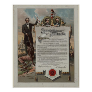 J. S. Smith & Co. copy Emancipation Proclamation Poster