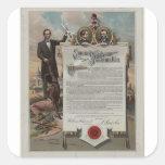 J. S. Smith & Co. copy Emancipation Proclamation Square Sticker
