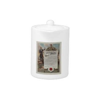J. S. Smith & Co. copy Emancipation Proclamation Teapot