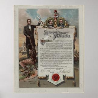 J.S. Smith y proclamación de la emancipación de la Póster
