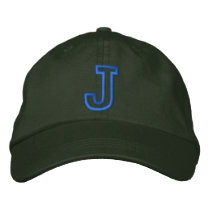 """J"" Small Athletic Letter Embroidered Baseball Cap"