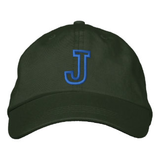 """J"" Small Athletic Letter Embroidered Baseball Caps"