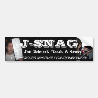 J-SNAG CAR BUMPER STICKER