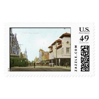 J Street Fresno California Vintage Stamps