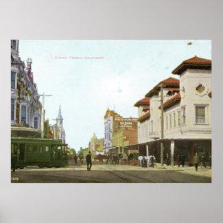 J Street Fresno California Vintage print
