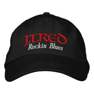 J T RED Rockin Blues Embroidered Hats