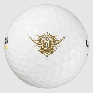 J Tattoo Monogram Golf Balls