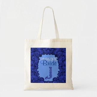 J - The Falck Alphabet (Blue) (Wedding) Tote Bag