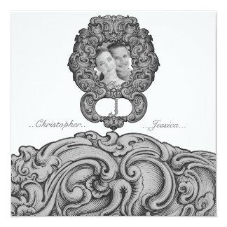 J - The Falck Alphabet (Silvery) (Wedding) Card