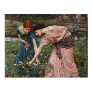 J.W. Capullos de rosa de YE del frunce del Waterho Tarjeta Postal