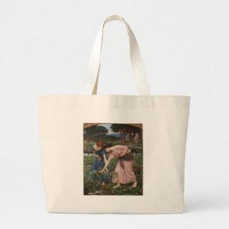 J.W. Waterhouse Gather Ye Rosebuds Tote Bags